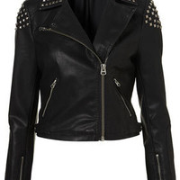 Studded Biker Jacket - Biker & Bomber Jackets - Jackets  - Clothing