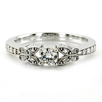 100CT Diamond Vintage Engagement Ring Antique Style by Pompeii3