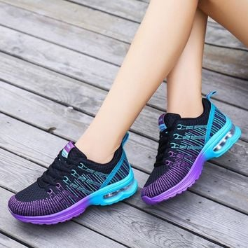 2018 Fashion Pink Sneakers Women Shoes Casual Platform Sneakers Buty Damskie Lace Up Walking Ladies Shoes Zapatos De Mujer