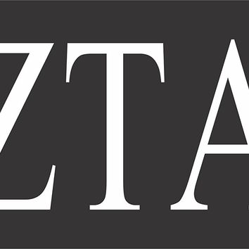 Zeta Tau Alpha College Sorority Logo Vinyl Sticker Decal Car Truck Windon Wall Laptop notebook
