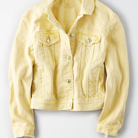AE Classic Denim Jacket, Yellow