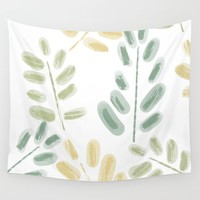 Plant Pattern Wall Tapestry by sm0w