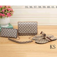 GUCCI New Tide brand fashion high quality fashionable three-piece F-KSPJ-BBDL apricot