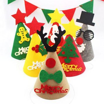 DCCKVQ8 Christmas Decorations Cartoon Letter DIY Child Santa Claus Hat Party Supplies
