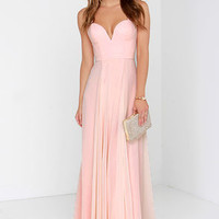 Bariano My Sweetheart Peach Maxi Dress