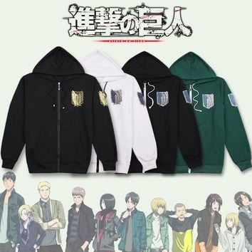 Cool Attack on Titan Anime  Cosplay Costumes MEN WOMEN Hoodie Scouting Legion Hooded Sweater CLOTHES clothes AT_90_11