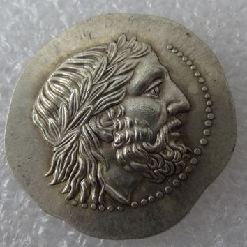 Type:#G11 Rare Ancient Greek Silver Tetradrachm Coin of King Philip II of Macedon - 323 BC Copy Coin