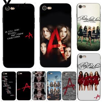 Yinuoda For iphone 7 6 X Case Pretty Little Liars PLL TV Show Retrospective Phone Case for iPhone 7 X 6 6S 8 Plus X 5 XS XR