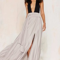 Wildfire Maxi Skirt - Gray