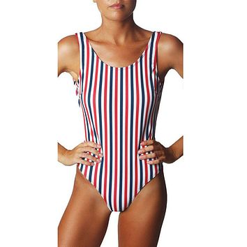 One Piece Swimsuit Women Bandage Bikini Push-up Padded Bra Swimsuit Swimwear bodysuit #EWX