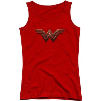 Wonder Woman Women's  Wonder Woman Logo Womens Tank Red