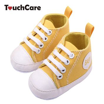 Fashion Infant Newborn Shoes Baby Girl Boy Sports Sneakers Soft Bottom Anti-slip T-tied First Walkers