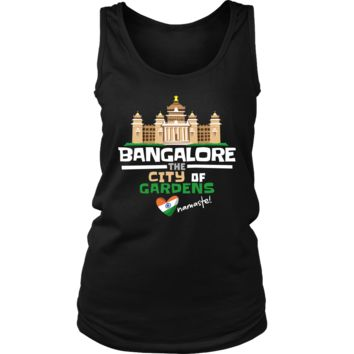 Bangalore The City of Gardens Love India Country Women's Tank