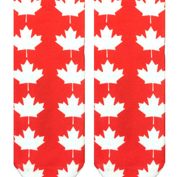 Maple Leaf Ankle Socks