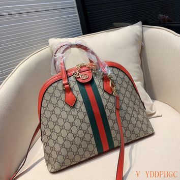 HCXX 19Oct 121 Gucci Shell Classic Fashion Chain Crossbody Handle Bowler Bag 34-26cm