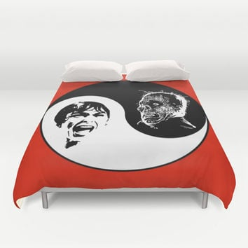 Yin Yang Horror - Duvet Cover by HoganFinland