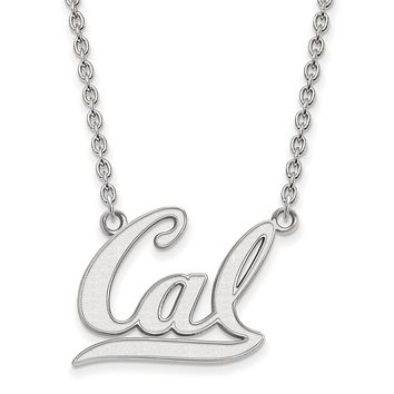 NCAA 10k White Gold California Berkeley Large  CAL  Pendant Neck d979d6137f0a