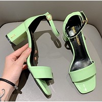 SaintLaurent YSL Heel height 7cm THICK HEEL SANDALS