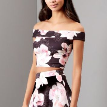 Buy Lipsy Floral Co-ord Bardot Crop Top online today at Next: Deutschland