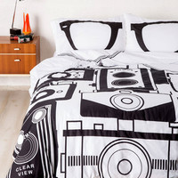 ModCloth Nifty Nerd Worth a Thousand Worlds Duvet Cover in Full, Queen