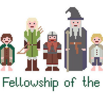 Lord Of The Rings Cross Stitch Pattern - The Fellowship of the Ring (PDF) INSTANT DOWNLOAD