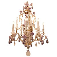 2 Antique French Gold-Plated Chandelier