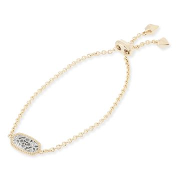 Elaina Adjustable Chain Bracelet Blue Drusy | Kendra Scott