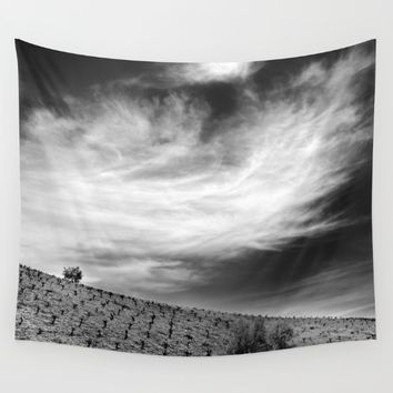 """Vineyards"". Monochrome. Wall Tapestry by Guido Montañés"