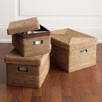 3-Piece Kendal Lidded Tote Set