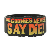 The Goonies Never Say Die Die-Cut Rubber Bracelet