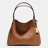 COACH Women Shopping Leather Handbag Tote Shoulder Bag-1