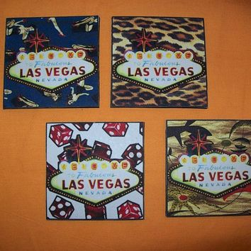 Las Vegas coasters retro vintage pin up girls 1950's rockabilly bar decor