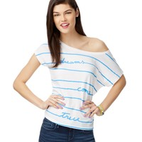 Striped Dream Boxy Tee - Aeropostale
