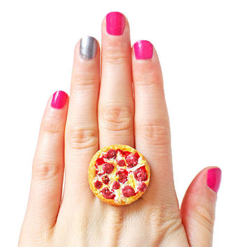 Pizza Ring - Kawaii Jewelry