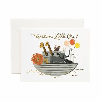 Noah's Ark Greeting Card by RIFLE PAPER Co.   Made in USA