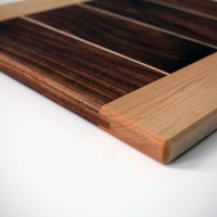 Cutting and Serving Board - Walnut with Maple Accents and Border