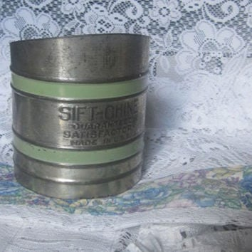 1940s Sift-Chine Flour Sifter, Baking, Kitchen Decor