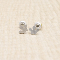small crown earrings with sterling silver post, silver or gold tone