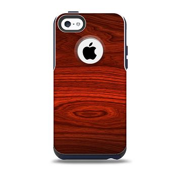 The Rich Red Wood grain Skin for the iPhone 5c OtterBox Commuter Case