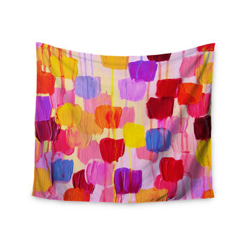"Ebi Emporium ""Dotty in Pink"" Wall Tapestry"