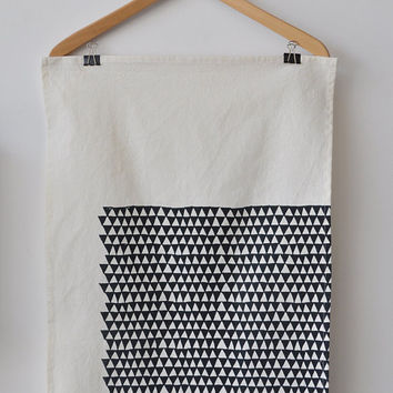 triangle tea towel by bookhouathome on Etsy