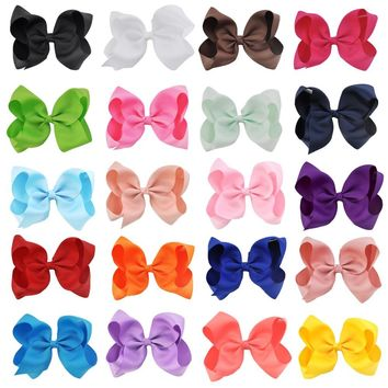20 Pcs/lot 6 Inch Girls Hairbow children hair clips kids Newborn hairpins Girls Hair Bows Clips Hair accessories