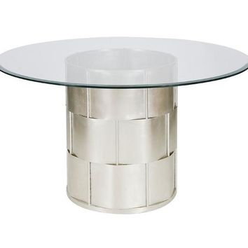 Amanda Silver 54 Inch Round Dining Table