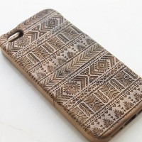Walnut Wood iPhone 5c Case, Wooden iPhone 5c Case, Aztec iPhone 5c Case