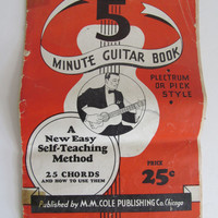 5 Minute Guitar Book 1935 Country Music Sheet Music Cowboy Music Songs Self Teaching Guitar Lessons