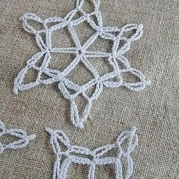 Crochet Snowflake #8 Handmade christmas tree decorations Christmas time X-mas holiday decor New Year ornaments accents Winter Snow presents