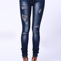Cami Bleach Wash High Waist Ripped Jeans