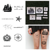 Set Sail - Temporary Tattoo Pack (Set of 18)