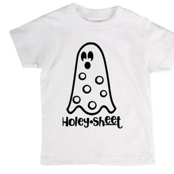 Holey sheet toddler kids shirt, Halloween, ghost, crazy, holiday pun, pun, halloween costume, joke, funny shirt, bad joke, toddler, child