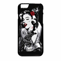 Marilyn Monroe Tattooed Flower With Pistol Gun iPhone 6 Plus Case